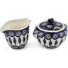 5-inch Stoneware Sugar and Creamer Set - Polmedia Polish Pottery H0990L