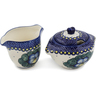 5-inch Stoneware Sugar and Creamer Set - Polmedia Polish Pottery H0991L