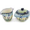 5-inch Stoneware Sugar and Creamer Set - Polmedia Polish Pottery H0992L