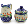 5-inch Stoneware Sugar and Creamer Set - Polmedia Polish Pottery H6167K