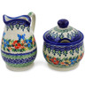 5-inch Stoneware Sugar and Creamer Set - Polmedia Polish Pottery H8163K