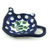 5-inch Stoneware Tea Bag or Lemon Plate - Polmedia Polish Pottery H0166B