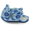 5-inch Stoneware Tea Bag or Lemon Plate - Polmedia Polish Pottery H1712E