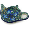 5-inch Stoneware Tea Bag or Lemon Plate - Polmedia Polish Pottery H2183J