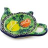 5-inch Stoneware Tea Bag or Lemon Plate - Polmedia Polish Pottery H2193J