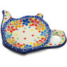 5-inch Stoneware Tea Bag or Lemon Plate - Polmedia Polish Pottery H3009K