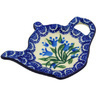 5-inch Stoneware Tea Bag or Lemon Plate - Polmedia Polish Pottery H4449F