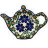 5-inch Stoneware Tea Bag or Lemon Plate - Polmedia Polish Pottery H4457F
