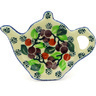 5-inch Stoneware Tea Bag or Lemon Plate - Polmedia Polish Pottery H4957D