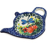 5-inch Stoneware Tea Bag or Lemon Plate - Polmedia Polish Pottery H5587L