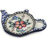 5-inch Stoneware Tea Bag or Lemon Plate - Polmedia Polish Pottery H8535B