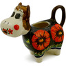 5 oz Stoneware Cow Shaped Creamer - Polmedia Polish Pottery H0875E