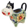 5 oz Stoneware Cow Shaped Creamer - Polmedia Polish Pottery H0876E