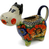 5 oz Stoneware Cow Shaped Creamer - Polmedia Polish Pottery H6120I