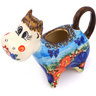 5 oz Stoneware Cow Shaped Creamer - Polmedia Polish Pottery H9618G