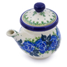 5 oz Stoneware Creamer with Lid - Polmedia Polish Pottery H2856J