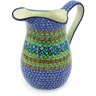 51 oz Stoneware Pitcher - Polmedia Polish Pottery H5534G
