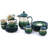 51 oz Stoneware Tea or Coffee Set for Six - Polmedia Polish Pottery H5961G