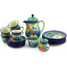51 oz Stoneware Tea or Coffee Set for Six - Polmedia Polish Pottery H6578G