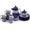 51 oz Stoneware Tea or Coffee Set for Six - Polmedia Polish Pottery H9286G
