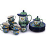 51 oz Stoneware Tea or Coffee Set for Six - Polmedia Polish Pottery H9307G