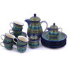 51 oz Stoneware Tea or Coffee Set for Six - Polmedia Polish Pottery H9441G