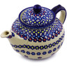 52 oz Stoneware Tea or Coffee Pot - Polmedia Polish Pottery H9017I