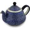 52 oz Stoneware Tea or Coffee Pot - Polmedia Polish Pottery H9688C