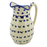 54 oz Stoneware Pitcher - Polmedia Polish Pottery H6487J