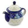 57 oz Stoneware Tea or Coffee Pot - Polmedia Polish Pottery H1242D