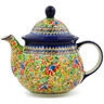 57 oz Stoneware Tea or Coffee Pot - Polmedia Polish Pottery H2778J