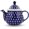 57 oz Stoneware Tea or Coffee Pot - Polmedia Polish Pottery H4338J