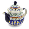 57 oz Stoneware Tea or Coffee Pot - Polmedia Polish Pottery H4812C