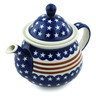 57 oz Stoneware Tea or Coffee Pot - Polmedia Polish Pottery H7637H