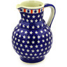 59 oz Stoneware Pitcher - Polmedia Polish Pottery H4955E