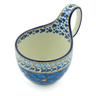 6-inch Stoneware Bowl with Handles - Polmedia Polish Pottery H0052I