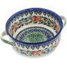 6-inch Stoneware Bowl with Handles - Polmedia Polish Pottery H0920L