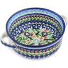 6-inch Stoneware Bowl with Handles - Polmedia Polish Pottery H0976L