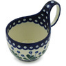 6-inch Stoneware Bowl with Handles - Polmedia Polish Pottery H1744H