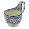 6-inch Stoneware Bowl with Handles - Polmedia Polish Pottery H1805K