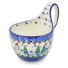 6-inch Stoneware Bowl with Handles - Polmedia Polish Pottery H1875J