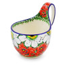 6-inch Stoneware Bowl with Handles - Polmedia Polish Pottery H1876J