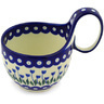 6-inch Stoneware Bowl with Handles - Polmedia Polish Pottery H1907F
