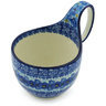 6-inch Stoneware Bowl with Handles - Polmedia Polish Pottery H2134H