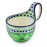 6-inch Stoneware Bowl with Handles - Polmedia Polish Pottery H2214E