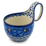 6-inch Stoneware Bowl with Handles - Polmedia Polish Pottery H2423C