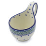 6-inch Stoneware Bowl with Handles - Polmedia Polish Pottery H2543J