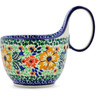 6-inch Stoneware Bowl with Handles - Polmedia Polish Pottery H2888C