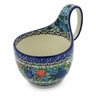 6-inch Stoneware Bowl with Handles - Polmedia Polish Pottery H3420J