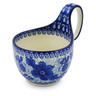 6-inch Stoneware Bowl with Handles - Polmedia Polish Pottery H3575J